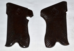 Grips - Brown Hard Rubber - Pair